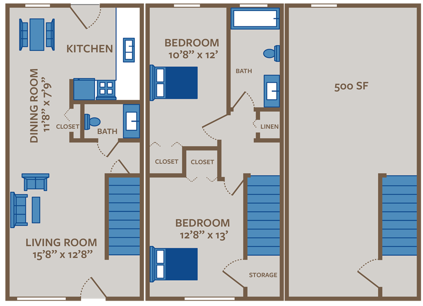 2 Bedroom Townhome with Basement