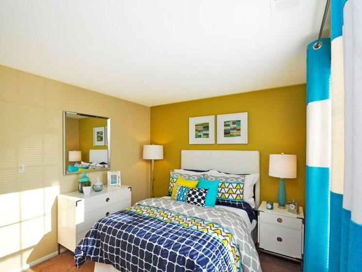 Brightly Lit Bedrooms at Pavilion lakes apartments