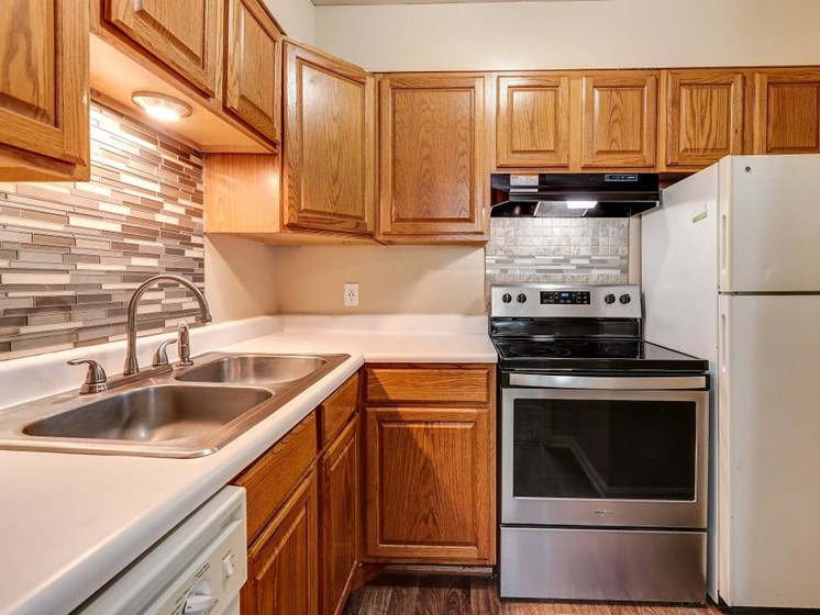 Caspian Kitchen at Hearth Hollow Apartments in Derby, KS