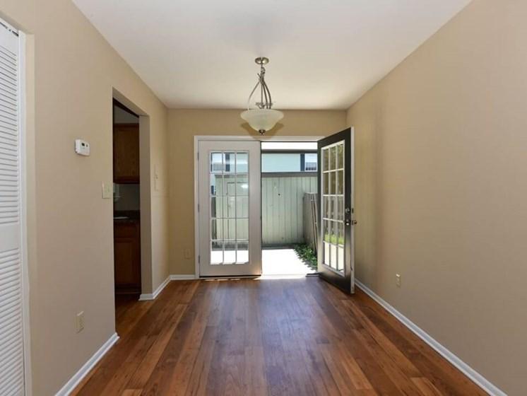 private apartment patio at Evansville In apartment