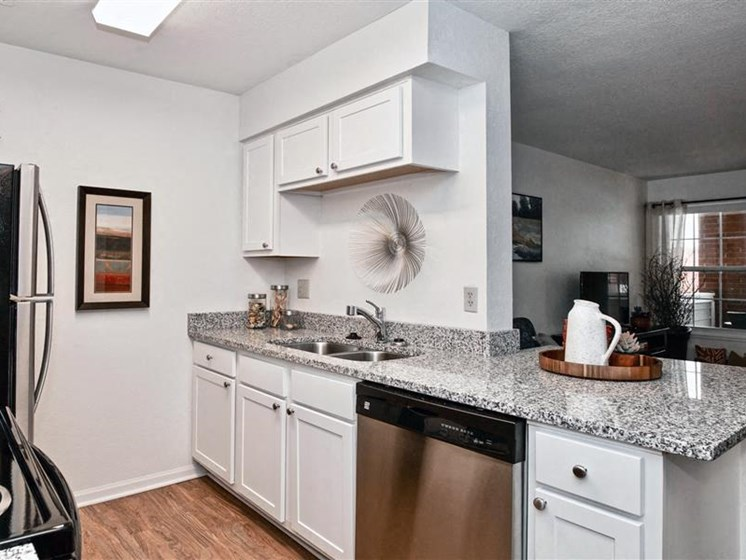 Renovated Kitchen at Village Woods Apartments in Milan, IL