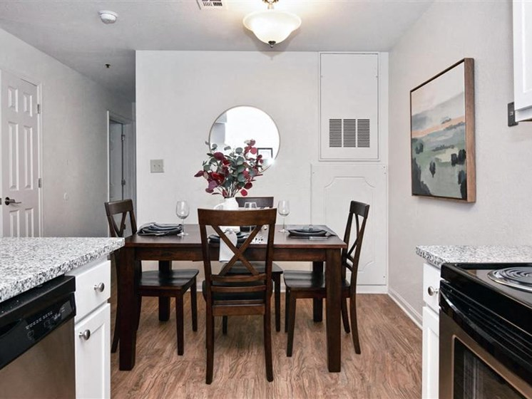 Dining Room at Village Woods Apartments in Milan, IL