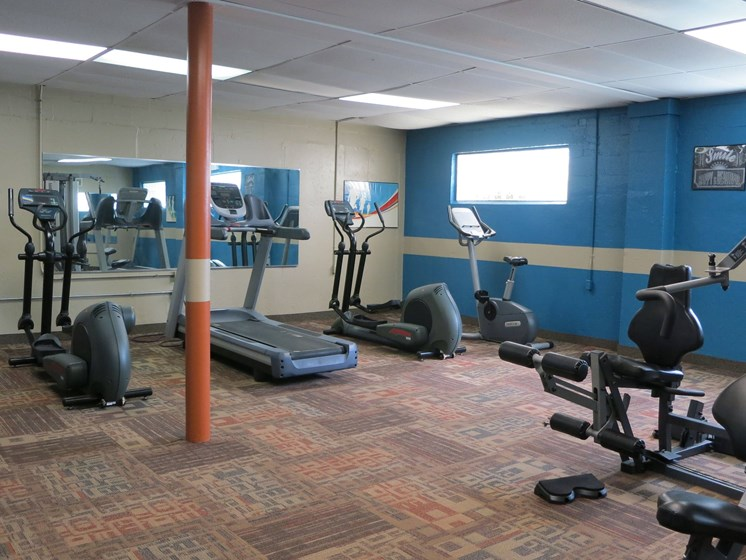 spacious fitness center at springdale, Ohio