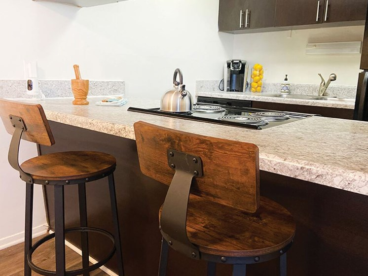 kitchen at the Creek at Forest Hills apts