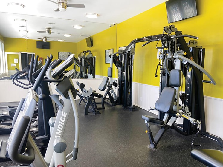The Creek apartments fitness center