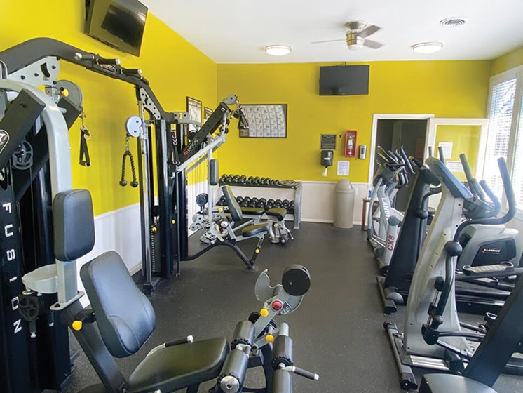 Apartment gym at The Creek