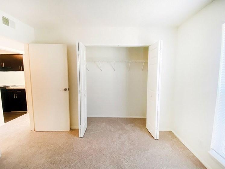 large bedroom closets at The Creek apartments