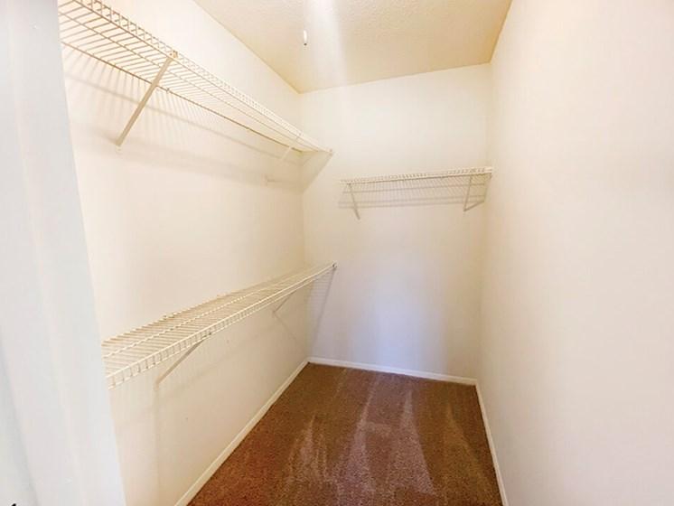 spacious closets at The Creek Apartments