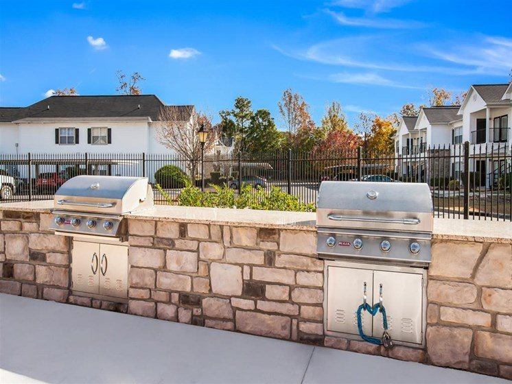 grill station at carver falls apartments Fayetteville