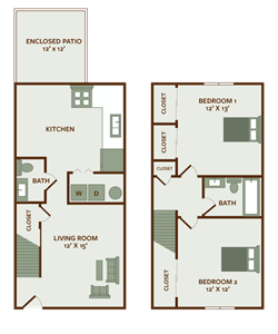 2 Bedroom Townhome at Pine Run Townhomes in Huber Heights, OH