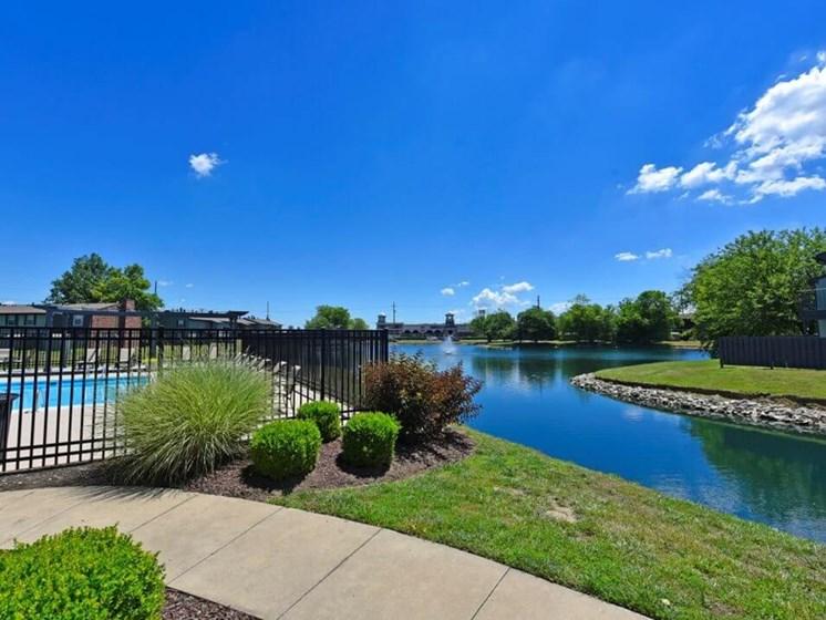 Beautiful lake views at Pavilion Lakes Apartments