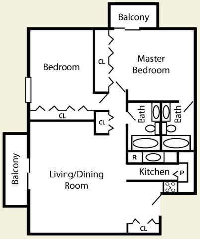 2 Bedroom Standard