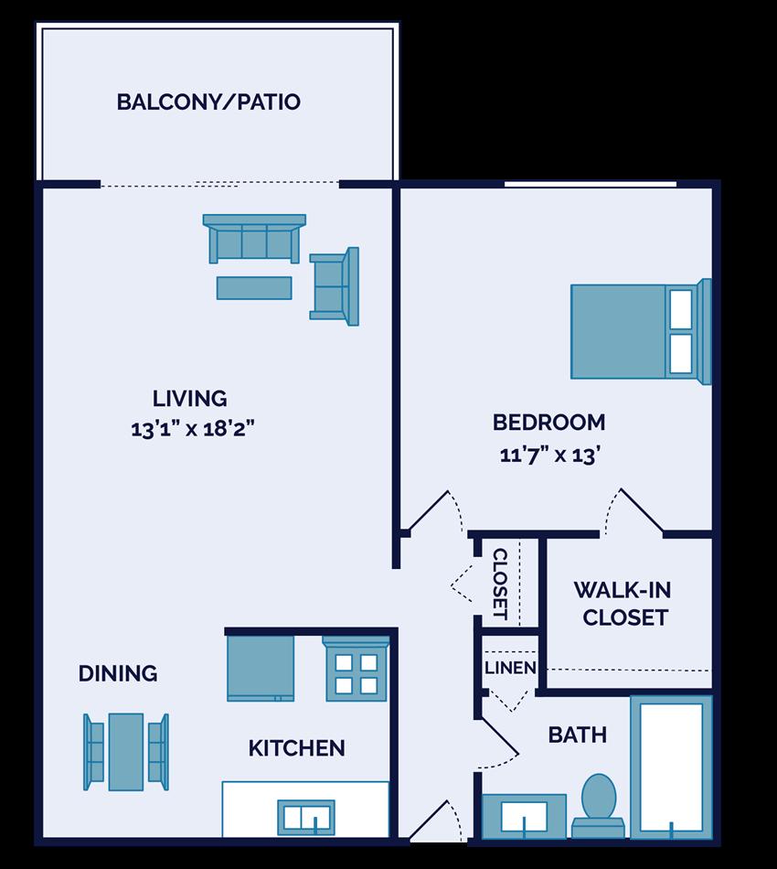 one bedroom apartment floor plan in springdale oh