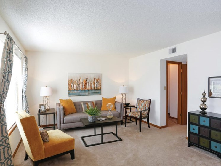 living room at Topeks KS apartments
