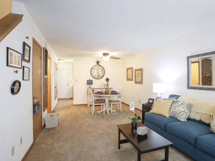 living room at Topeka KS apartments
