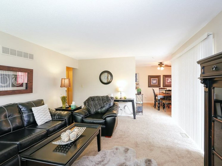 open floor plan apartments in The Oak at Prairie View