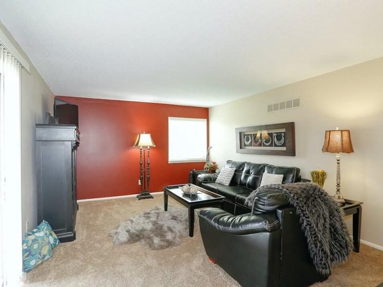 living room at Kansas City MO apartments