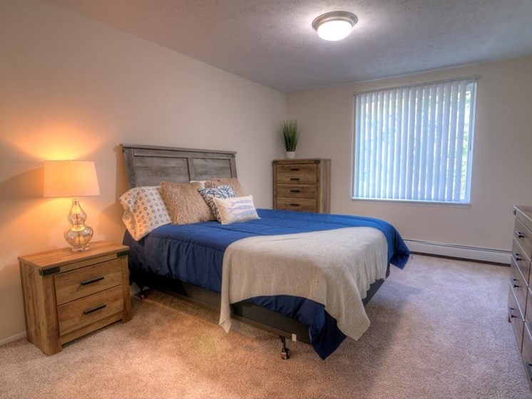 Primary Bedroom at Lakecrest Apartments