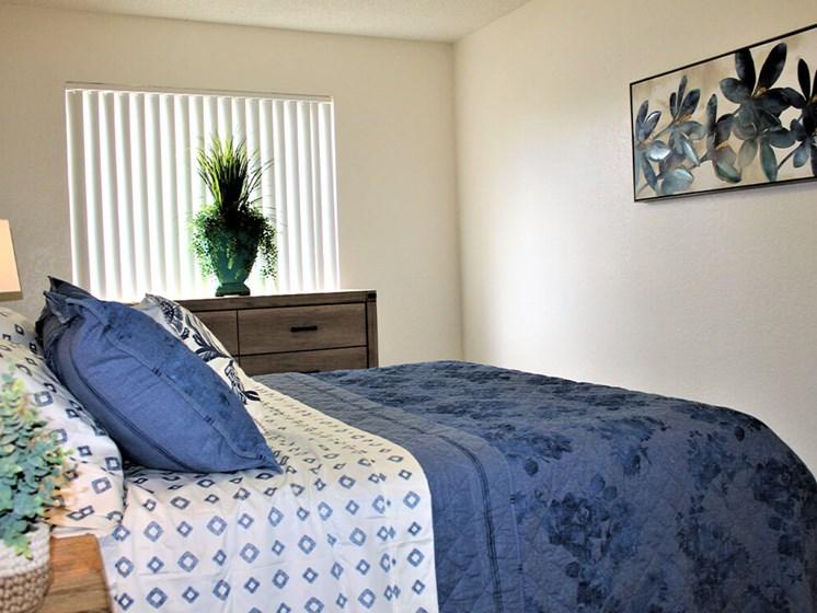 primary bedroom in Tucson apartment