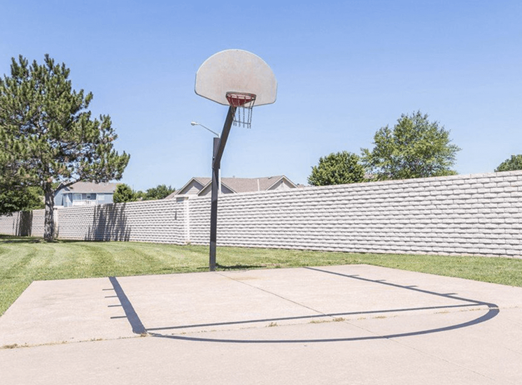 Half Basketball Court at apartment complex