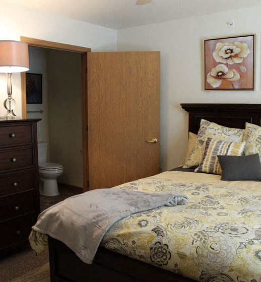 Apartments in Marquette, MI Living Bed