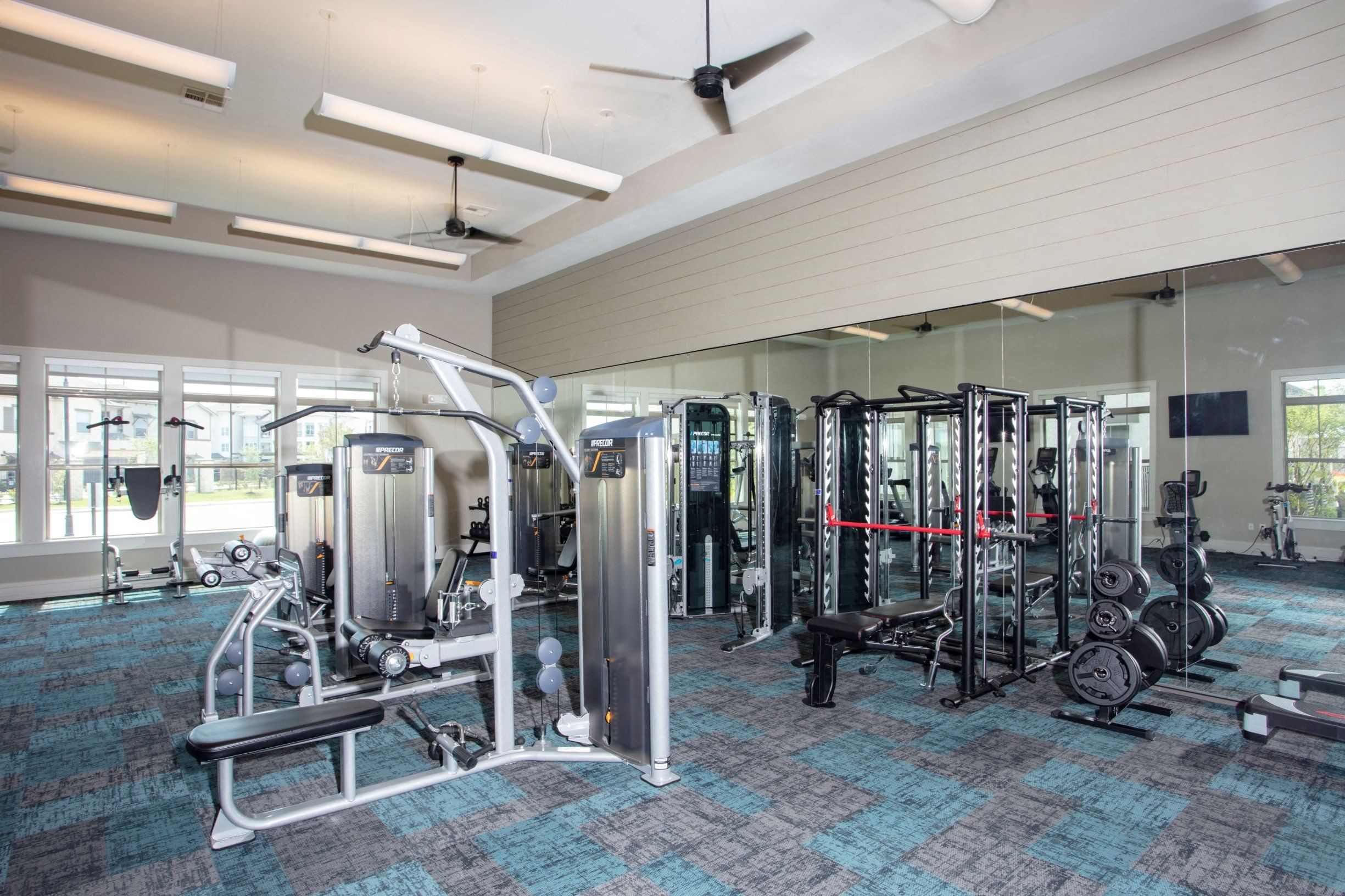 Expansive fitness center at Legacy at 2020