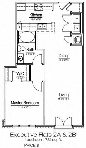 One bedroom apartment home at Main Street Square