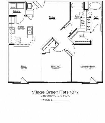 Village Green Flats Apartment Home at Main Street Square