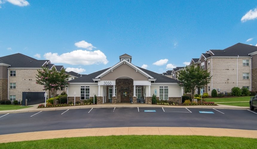 Exterior Clubhouse Views at West End at Fayetteville in Fayetteville, NC