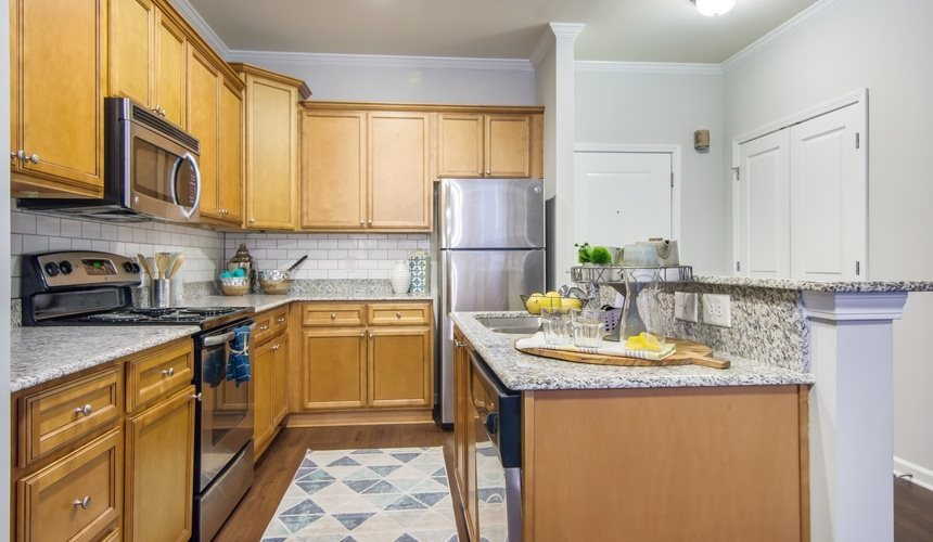 Kitchen at West End at Fayetteville in Fayetteville, NC