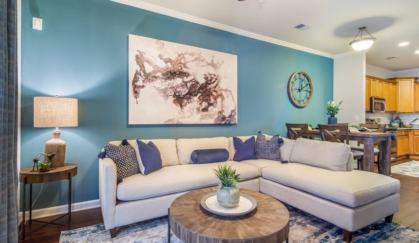 Living Room at West End at Fayetteville in Fayetteville, NC