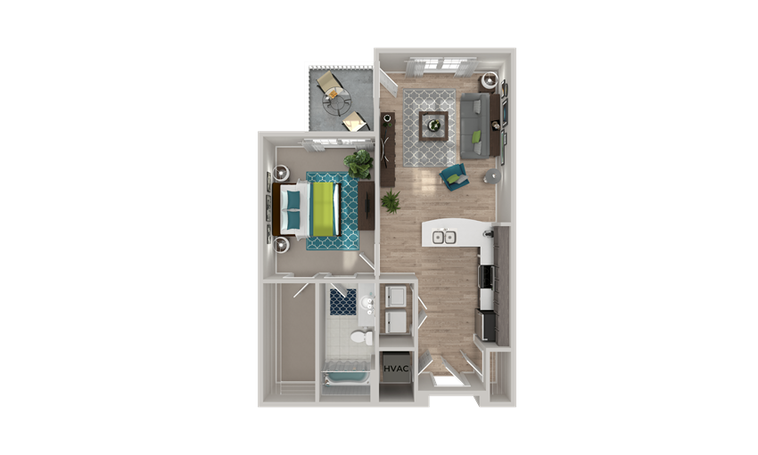 A1.1 Floor Plan at Crabtree Lakeside in Raleigh, NC