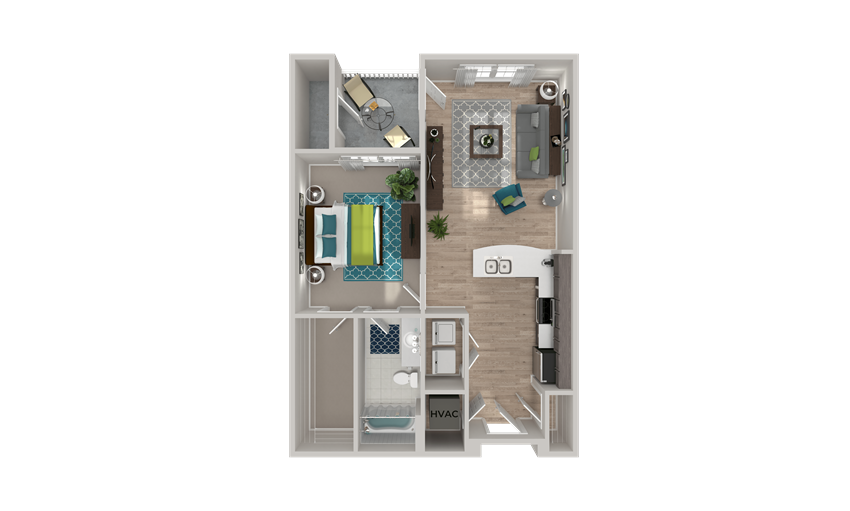 A1 Floor Plan at Crabtree Lakeside in Raleigh, NC
