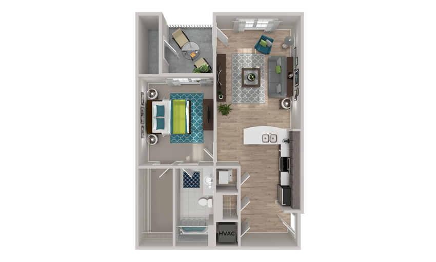 A3 Floor Plan at Crabtree Lakeside in Raleigh, NC