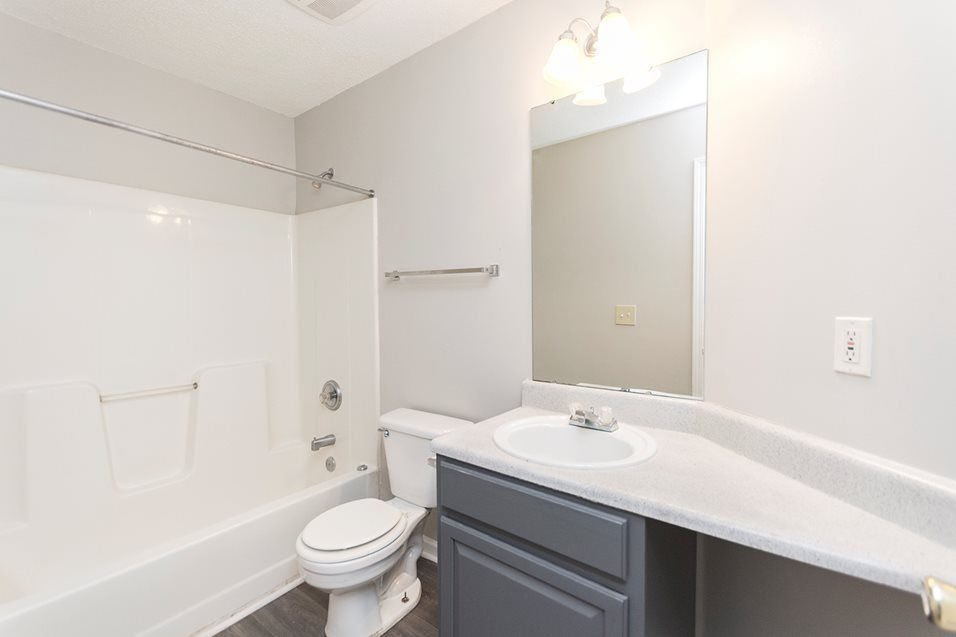 Renovated bathroom at The Avalon apartment homes in Charlotte, NC