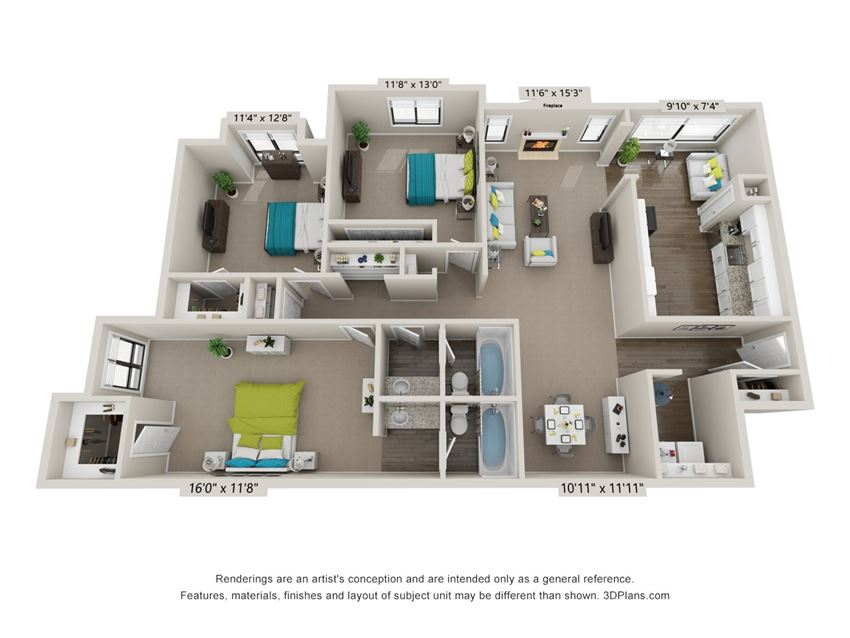 The Brookhaven Floor Plan at The Avenues at Holcomb Bridge