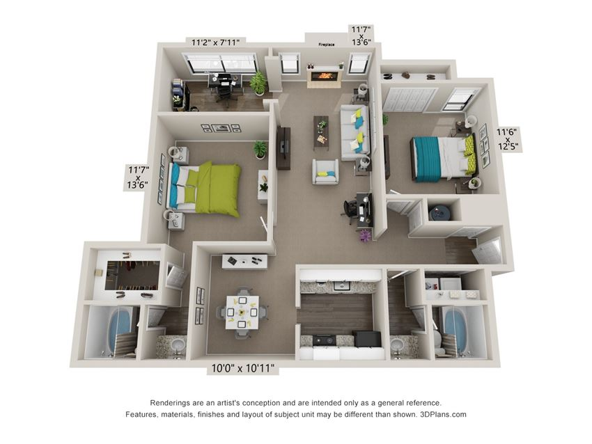 The Dunwoody Floor Plan at The Avenues at Holcomb Bridge