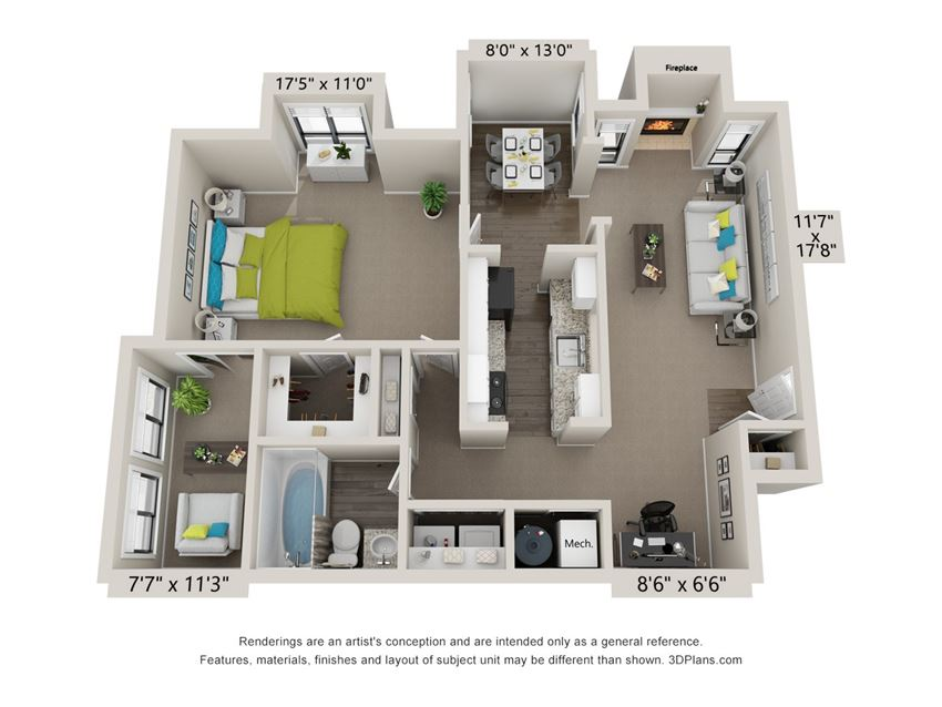 The Roswell Floor Plan at The Avenues at Holcomb Bridge