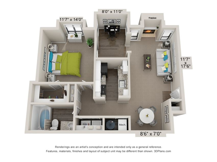 The Norcross Floor Plan at the Avenues at Holcomb Bridge