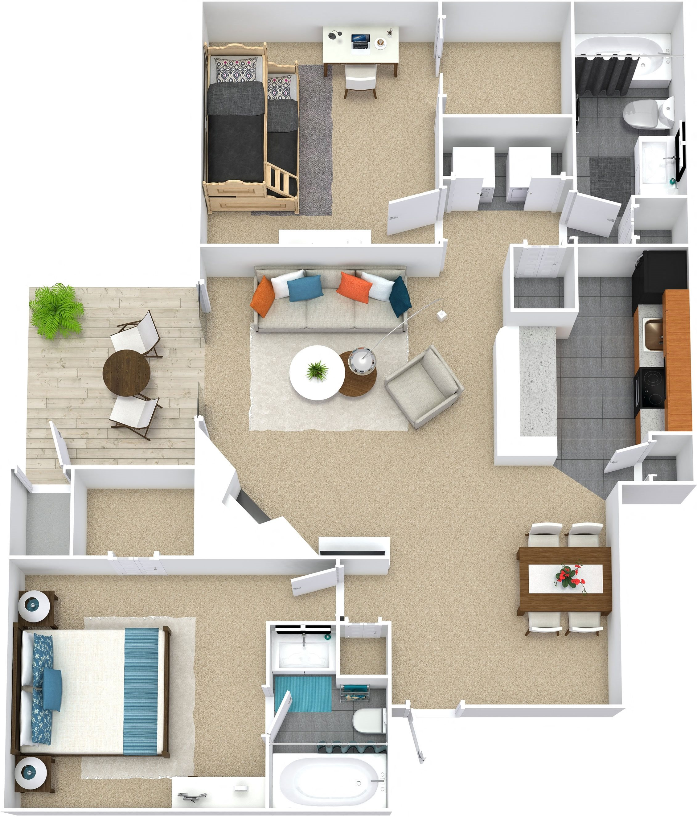 Floor Plans Of 1700 Place Apartments In Charlotte, NC