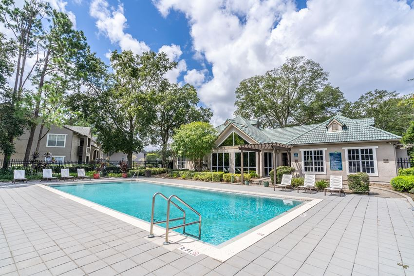 Sparkling Swimming Pool at Barber Park Apartments in Orlando, FL