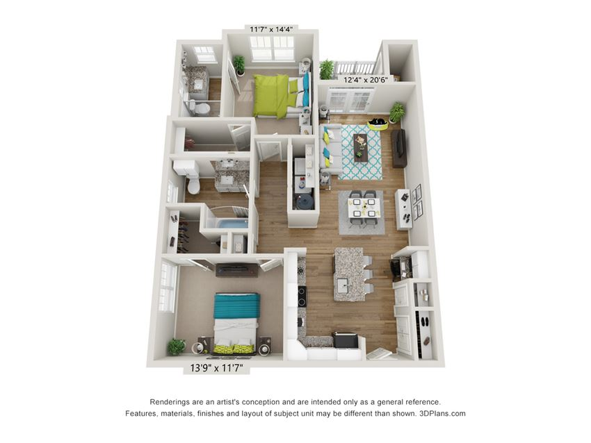 Bella Floor Plan at Hawthorne at Pine Forest in Oak Island, NC 28465