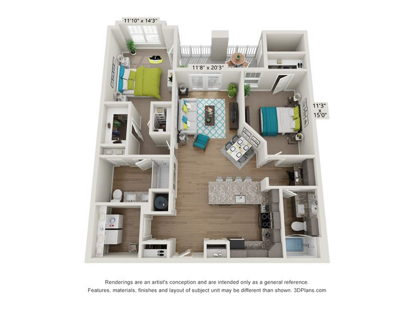 Bliss Floor Plan at Hawthorne at Pine Forest in Oak Island, NC 28465