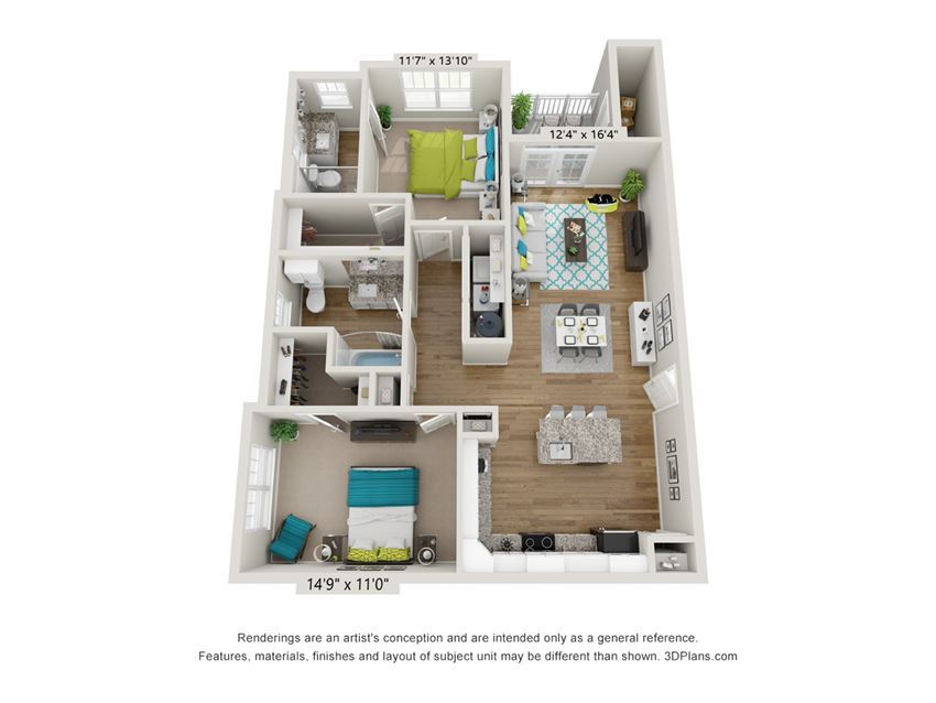 Bravo Floor Plan at Hawthorne at Pine Forest in Oak Island, NC 28465