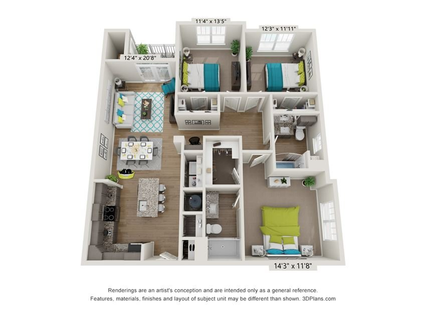 Crest Floor Plan at Hawthorne at Pine Forest in Oak Island, NC 28465