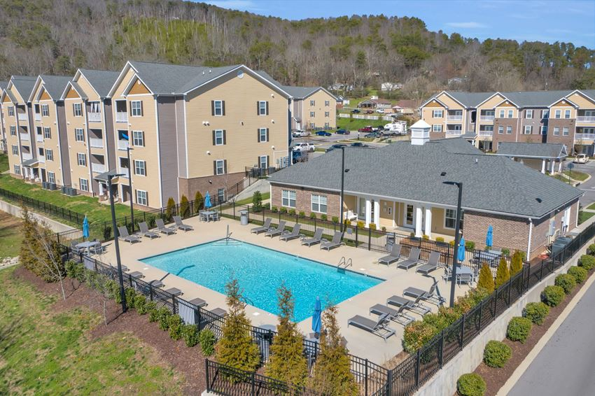 Aerial view of Hawthorne at the Hollow in Soddy-Daisy, TN
