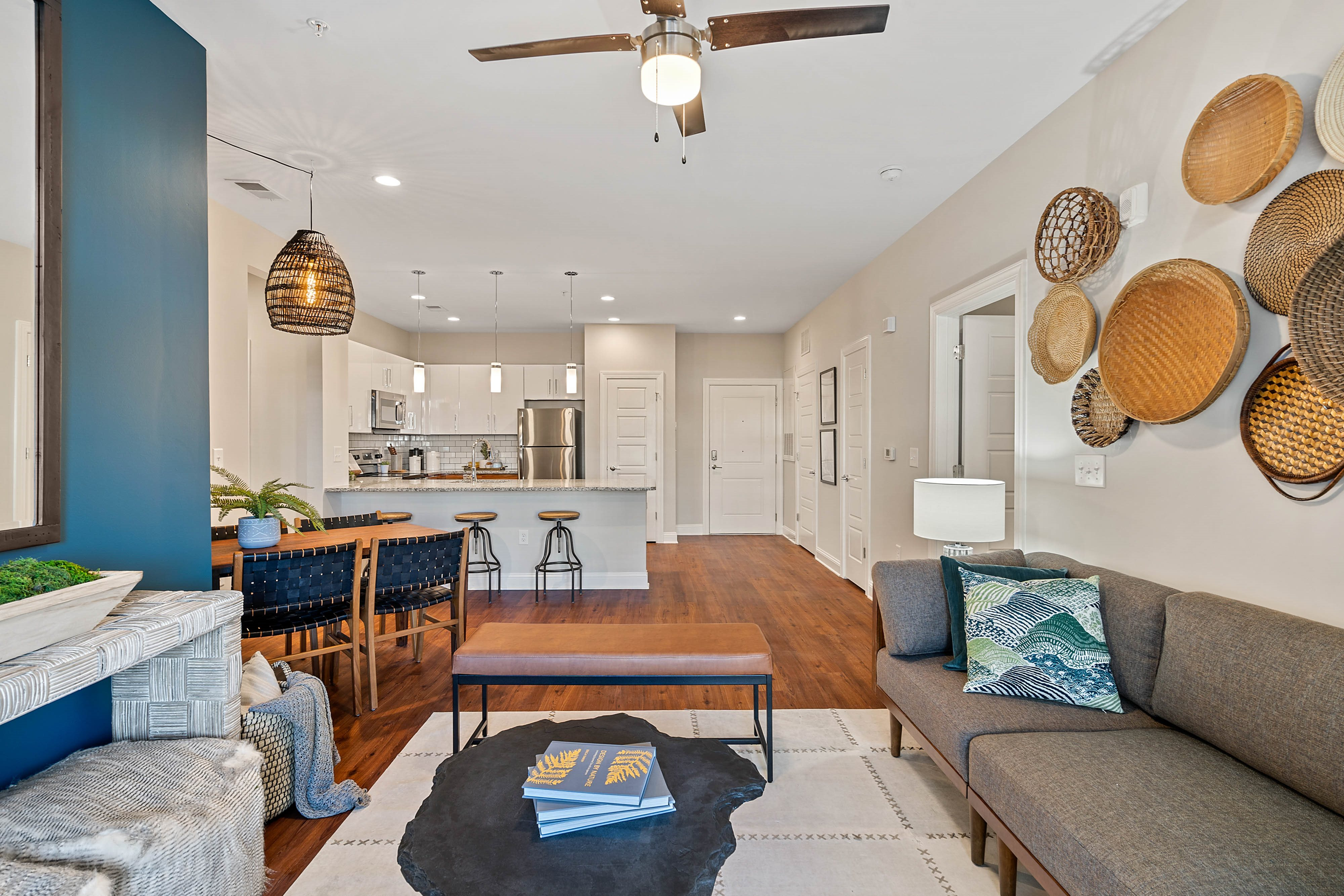 Living room area at Hawthorne at Haywood in Asheville, North Carolina