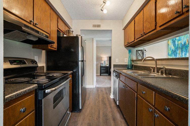Kitchen at Ashley River Apartments