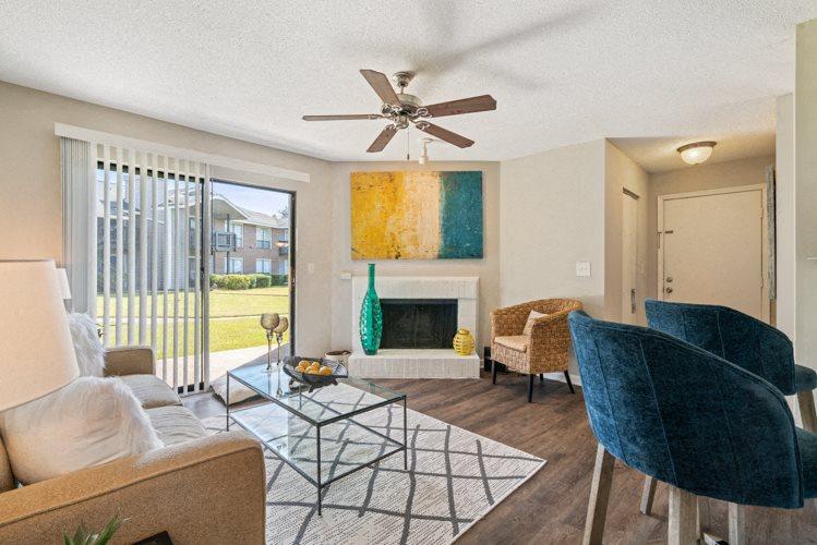 Living Room at Ashley River Apartments