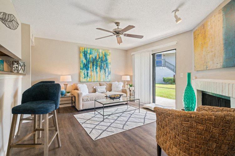 Living Room at Ashley River Apartment Homes